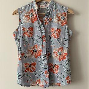Vintage   Floral Summer Button Up